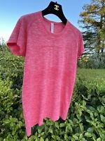 NWOT RARE Sold-Out Lululemon Women's Run Swiftly Tech Short Sleeves Pink Sz 12