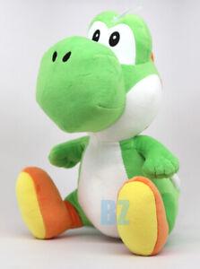 "GENUINE Super Mario Bros Green Yoshi Medium Size Plush 10"" Little Buddy 1585"