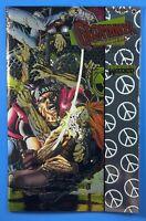 Geomancer #1 VALIANT COMICS 1994 Wrap-Around Chromium Cover by Rags Morales