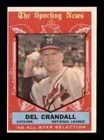 1959 Topps Set Break # 567 Del Crandall All Star NM *OBGcards*