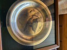 1973 Franklin Mint Collection Of 4 Sterling Silver Plates In Mint Condition!