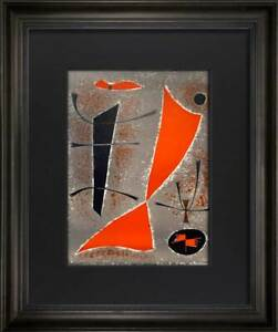 Gustave Singier LIMITED Edition LITHOGRAPH 1955 w/ Archival Frame