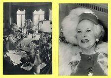 BARBARA CARTLAND LOTE DE 2 FOTOS B./N. Agencia Keystone 1965 y 1981