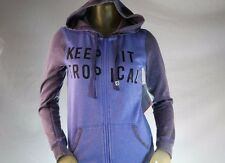 ROXY WOMAN'S BLUE & GRAY GRAPHIC ZIP-UP HOODED SWEATSHIRT/HOODIE Size Small