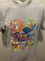 Walt Disney World 2004 Mickey Mouse Theme Park Mens Gray T Shirt Large L Goofy