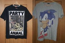 Mens T-Shirt Bundle x2 - size S - Asda George Muppets, Primark Sonic Hedgehog