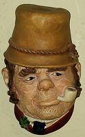 Bossons Paddy the Irishman (No. 37) Vintage Wall Hanging Chalkware Head; 1969