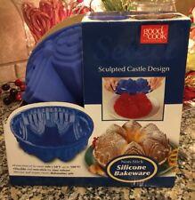 New/GOOD COOK CASTLE DESIGN NON~STICK SILICONE BAKEWARE CAKE MOLD/PAN~Rare!