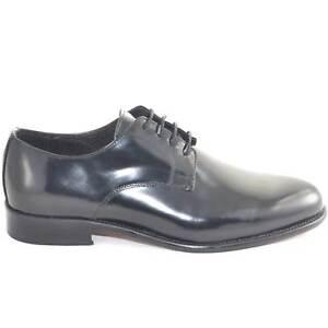 scarpe da uomo stringata cerimonia da ballo fondo vero cuoio made in italy ovali
