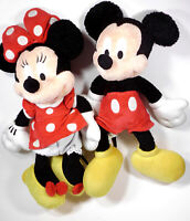 Disney World Classic Mickey and Minnie Mouse plush stuffed animal doll