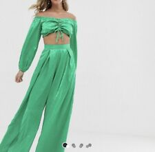 Green Satin Co ord  ASOS Twisted Wunder