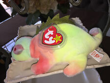 """RARE FIRST GENERATION """"IGGY"""" BEANIE BABY W/ ERRORS COLLECTIBLE ITEM! RETIRED!"""