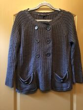 Bcbg Maxazria Womens Gray Sweater S Buttons Pockets