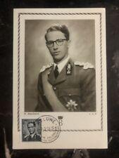 1956 Woluwe Belgium Maxi Postcard Cover Baudouin I King Of Belgium
