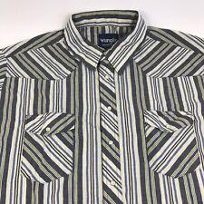 Wrangler Mens Size 3XL XXXL Short Sleeve Pearl Snap Button Cowboy Shirt