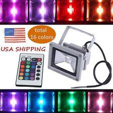 LED Flood Light 10W RGB 16 Colors Changing Multi-color Landscape Spot Lamp