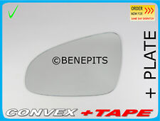 Left Side Convex Wing Mirror Glass For TOYOTA YARIS 2012-2018 + BACK PLATE #423