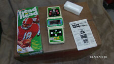 1979 Coleco Head to Head Football Handheld Electronic Game / Box & Instructions