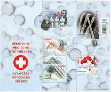 Belgium 2017 MNH Belgian Medical Breakthroughs 5v M/S Red Cross Science Stamps