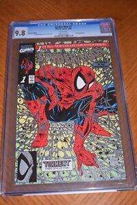 Spiderman #1 Platinum Edition CGC Graded 9.8! WHITE Pages! Super Rare! McFarlane