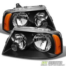 Black 2003-2006 Lincoln Navigator Replacement Headlights 03 04 05 06 Headlamps