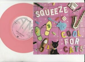 Squeeze - Cool for Cats -Pink Vinyl 45 A&M AMS 7426 1979