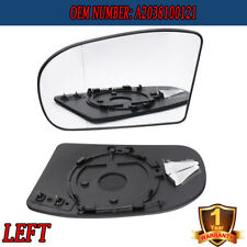 LEFT Heated Door Clear Mirror Glass w/Plate for Benz E/C-Class W211 W203 2001-07