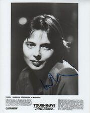 "Isabella Rossellini ""Tough Guys Don´t Dance"" Autogramm signed 20x25 cm Bild s/w"
