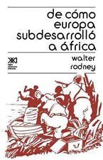 de Como Europa Subdesarrollo a Africa (Paperback or Softback)