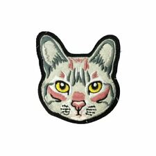 Cat Face (Iron On) Embroidery Applique Patch Sew Iron Badge