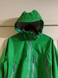 Burton Snowboards iDiom Green Grid Mens Large Jacket Brand New with Stuff Sack!!