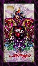 "★★★ Coque TPU  RIGIDE Apple iPhone 4G/4S  Design ED Hardy ""LOVE KILLS SLOWY"""
