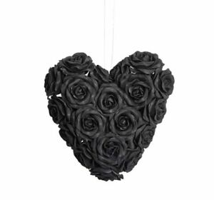 Alchemy Gothic - BLACK ROSE HEART - Hanging Ornament