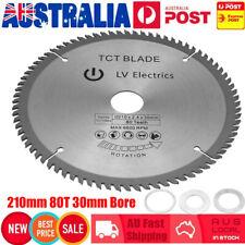 210mm 80 Teeth TCT Circular Saw Blade Wood Timber Aluminium Cutting 30mm Bore AU