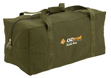 OZTRAIL CANVAS (LARGE) DUFFLE BAG Luggage Overnight Travel Carry Sports Gym Tote