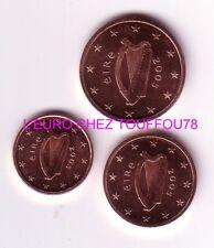 Pièces de 1,2,5cts euros Irlande 2005.