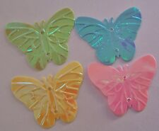 20 Embossed Pearlized Butterfly Die Cut Scrapbook Confetti Paper Punch