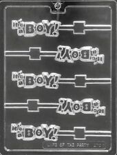 IT'S A BOY LOLLIPOP CHOCOLATE CANDY MOLD MOLDS DIY BABY SHOWER PARTY FAVORS LOP
