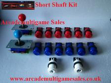 2 Zippyy Ball Joysticks Short Shaft + 12 Buttons (CHOOSE ANY 12 COLOURS) + 1P 2P