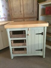 Rustic Wooden Solid Pine Freestanding Kitchen Island Handmade Cupboard Trays