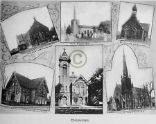 """ST.THOMAS Ontario CANADA """"CHURCHES II"""" in 1906 Reprint on Pro Glossy Paper"""