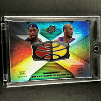 LEBRON JAMES / KOBE BRYANT 2008 UPPER DECK SPX DUAL GAME JERSEY NBA LAKERS