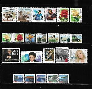 Canada year 2014 all different used stamps off paper #2