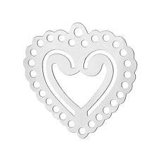 Beauty Modeschmuck-Halsketten & -Anhänger aus Edelstahl mit Herz-Schliffform