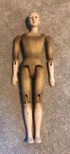 """SANTOS articulated wood mannequin doll, dressed as NUN 24"""" tall unusual"""