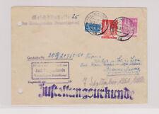 Bizone/Bauten, 87wg, 90wg, Orts-Zust.Urkunde Braunschweig, 6.9.51