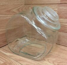 "Unbranded Clear Glass Candy Jar 7"" x 5.5"" x 7.5"" **USED**"
