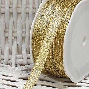 GLITTER GOLD/SILVER Ribbon Small-Large Craft Gift Wrap Wedding Cake Edge Per 1M