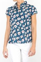 Seasalt Womens Shirt Navy White Floral Rushmaker Blouse Button Up Ladies Top