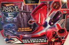 Hot Wheels DIE CAST car Battle Force 5 Fused Red Sentient Destroyer Playset NEW